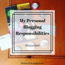 personal blogging responsibilites